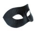 Men's Black Leather Python Snakeskin print masquerade mask side
