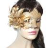 Gold Floral Bronze Glitter Venetian Masquerade Mask UK