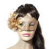 Gold Floral Bronze Glitter Venetian Mask UK