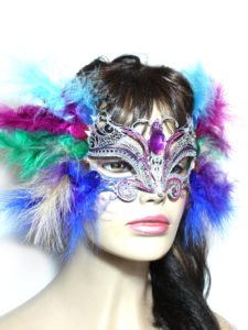 Mardi Gras Feather Butterfly Masquerade Mask