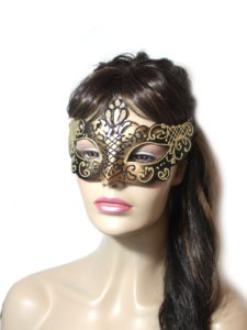 Regal Black Gold Venetian Mask UK