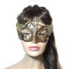 Regal Black Gold Venetian Mask Womens UK
