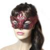 Regal Black Red Venetian Masquerade Mask UK