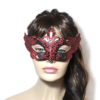 Regal Black Red Venetian Mask Womens UK