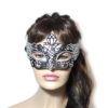 Regal Black Silver Venetian Mask Womens UK