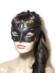 Regal Black Venetian Mask