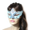 Regal Ice Blue Venetian Mask UK