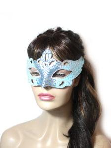 Regal Ice Blue Venetian Mask UK