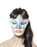 Regal Ice Blue Venetian Masquerade Mask UK