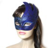 Royal Black Blue Swan Masquerade Mask UK