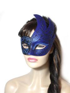 Royal Black Blue Swan Masquerade Mask UK