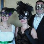 custom black gold swan ornate jewelled masquerade mask