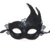 Black-lace-venetian-swan-masquerade-mask