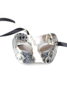 black-grey-white-venetian-scene-masquerade-mask