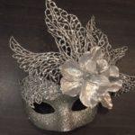 Silver stunning swan masquerade mask